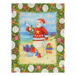 Christmas Cards Sandy Snowman 12 Per Box N92495