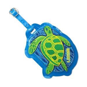 Blue Sea Turtle Embroidered Luggage / ID Tag - 15102000
