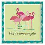 Flamingo Friends Paper Cocktail Napkins Pk of 20 Beverage - 4NC5409