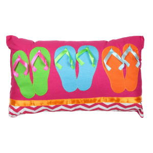 Colorful Flip Flops Accent Pillow 60165-P