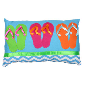 Colorful Flip Flops Accent Pillow 60165-B