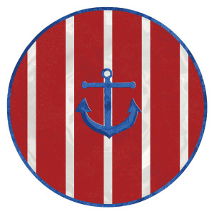 "High Tide Anchor 8"" Lunch Plate Melamine 21584"