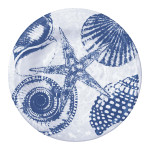 "Blue Shells 7"" Lunch Plate Melamine 22071"