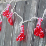 Lobster 10 String Lights 8' Long Strand 70184
