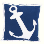 "Anchor 16"" Blue Decor Throw Accent Pillow 20369B"