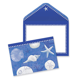 Blue Shells Note Cards 10 Pack 09-030
