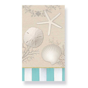 Elegant Tropical Shells - Paper Guest Towels 30 Pack 848-81
