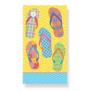 Yellow Flip Flops - Paper Guest Towels 30 Pack 848-82
