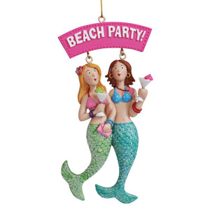 Mermaid Friends Beach Party Resin Ornament 873-26