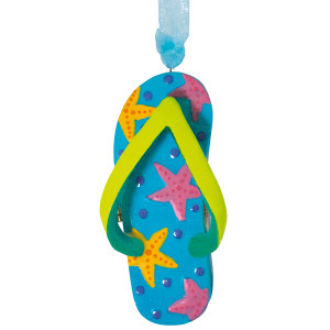 Flip Flop Treasure Box Beach Christmas Ornament 874-20