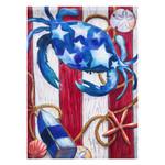 Patriotic Ocean Crabs Garden Flag 14A3782