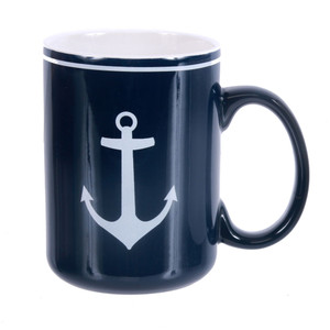 Anchor Mug - Blue Ceramic 18oz - 20385B