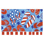 Patriotic Summer Fun Flip Flops Welcome Door MAT - DMBL-D00158