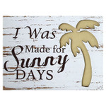 Sunny Palm Beach Wooden Sign - 16104P