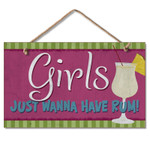 "Wood Beach Sign ""Girls just wanna have Rum!"" - 41-00812"