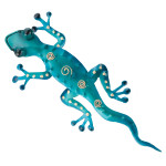 "Gecko Metal Wall Art - 11"" Long - 05293"