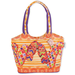 Flip Flops Sunshine Medium Canvas Tote Bag PB8853