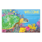 "Sea Turtle Welcome Floor Mat 18"" x 30"" MatMates 11376D"