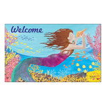 "Mermaid Song of Sea Welcome Floor Mat 18"" x 30"" MatMates 11379D"