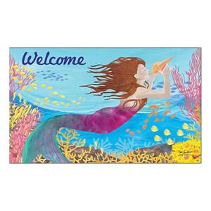 "Mermaid Song of Sea Welcome Floor Mat 18"" x 30"" MatMates 11379D"