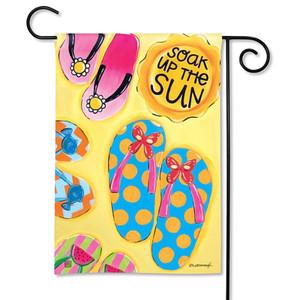Soak up the Sun Flip Flop Garden Flag 31347