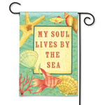 My Soul Lives by the Sea Garden Flag 33311G