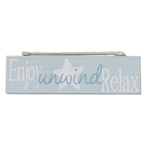 Enjoy Relax Wood Block Sign 15535EN