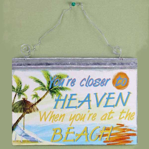 Closer to Heaven Metal Wall Sign 22350