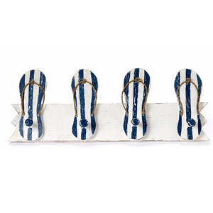 Flip Flop Hand-Painted Wood with Peg Hooks 1103-2-900