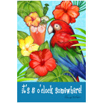 Colorful Parrot 5 oClock GARDEN Flag - 1110396