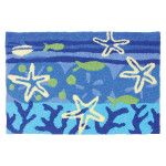 Ocean Tropical Starfish Rug Indoor Outdoor Washable JB-AB085
