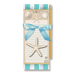 """Sea Shell Magnetic List Pad with Pencil """"Elegance"""" - 91-413"""