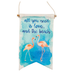 "Flamingo Beach Love Banner 6"" x 10"" - 30576"