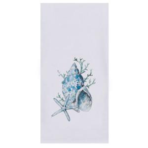 Blue Beach Flour Cotton Tea Towel - R3273