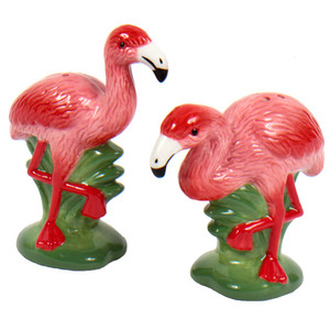 Pink Flamingo Salt & Pepper Shakers 60060