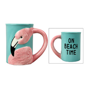 On The Beach Ceramic Pink Flamingo Mug 17216