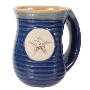 Embossed Starfish Cozy Hands Ceramic Mug 16oz 20113B