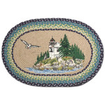 "Bass Harbor Oval Patch Rug 20""x30""by Earth Rugs OP-311"