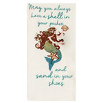 Mermaid Sand in Your Shoes Flour Sack Towel R4063