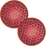 "Matching Red/Orange Turtle Shell Table Trivets - SET OF TWO - 7"" - H-002-7"