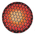 "Orange Turtle Shell Table Trivet - SET OF TWO - 7"" - H-006-7"