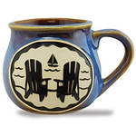 Adirondack Chair Boat Ocean Ceramic Comfort Mug 16oz