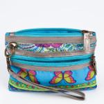 Colorful Blue Wristlet Zipper