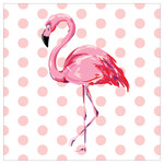 Flamingo Pink Polka Dots Single Absorbent Coaster - SB72018