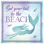 Swimming Mermaid - Single Absorbent Coaster
