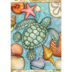 "Sea Turtles and Sea Shells Garden Flag - 12.5"" x 18"" - 46396"