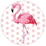 Pink Polka Dot Flamingo- Stone Car Coaster