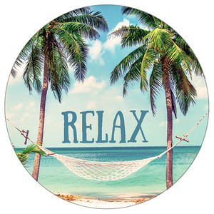 Relax Palm Trees - Stone Car Coaster CB72773