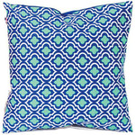 Blue and Teal Patterned Accent Pillow -10656B