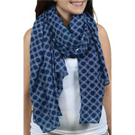 Blue and White Circle Pattern Sarong -20151D